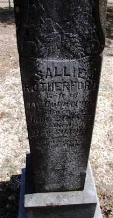 RUTHERFORD, SALLIE - Saline County, Arkansas   SALLIE RUTHERFORD - Arkansas Gravestone Photos