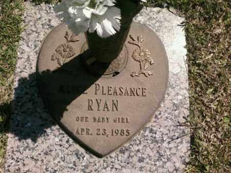 RYAN, ALICE PLEASANCE - Saline County, Arkansas | ALICE PLEASANCE RYAN - Arkansas Gravestone Photos