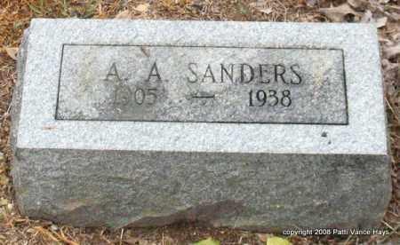 SANDERS, A. A. - Saline County, Arkansas | A. A. SANDERS - Arkansas Gravestone Photos