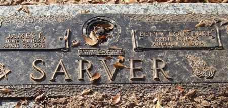 SARVER, JAMES E. - Saline County, Arkansas | JAMES E. SARVER - Arkansas Gravestone Photos