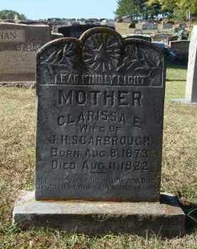 PRYER SCARBROUGH, CLARISSA EMALINE - Saline County, Arkansas | CLARISSA EMALINE PRYER SCARBROUGH - Arkansas Gravestone Photos