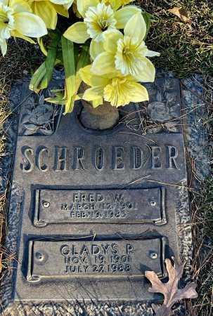 SCHROEDER, FRED W. - Saline County, Arkansas | FRED W. SCHROEDER - Arkansas Gravestone Photos