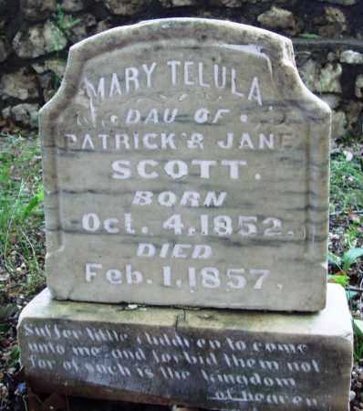 SCOTT, MARY TELULA - Saline County, Arkansas   MARY TELULA SCOTT - Arkansas Gravestone Photos