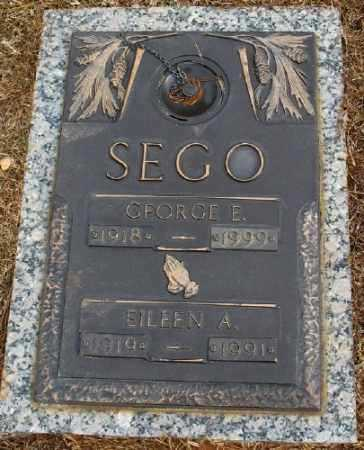 SEGO, EILEEN A. - Saline County, Arkansas | EILEEN A. SEGO - Arkansas Gravestone Photos