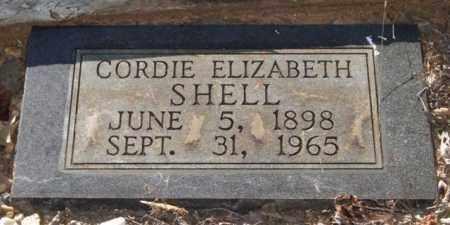 SHELL, CORDIE ELIZABETH - Saline County, Arkansas | CORDIE ELIZABETH SHELL - Arkansas Gravestone Photos