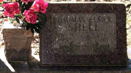 SHELL, THOMAS ELMER (CLOSEUP) - Saline County, Arkansas   THOMAS ELMER (CLOSEUP) SHELL - Arkansas Gravestone Photos