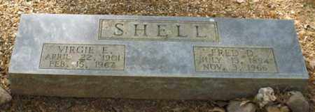 SHELL, VIRGIE E. - Saline County, Arkansas | VIRGIE E. SHELL - Arkansas Gravestone Photos