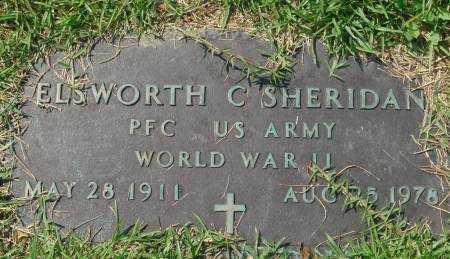 SHERIDAN (VETERAN WWII), ELSWORTH C - Saline County, Arkansas | ELSWORTH C SHERIDAN (VETERAN WWII) - Arkansas Gravestone Photos