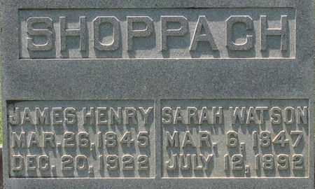 WATSON SHOPPACH, SARAH - Saline County, Arkansas | SARAH WATSON SHOPPACH - Arkansas Gravestone Photos