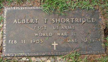 SHORTRIDGE  (VETERAN WWII), ALBERT T - Saline County, Arkansas | ALBERT T SHORTRIDGE  (VETERAN WWII) - Arkansas Gravestone Photos