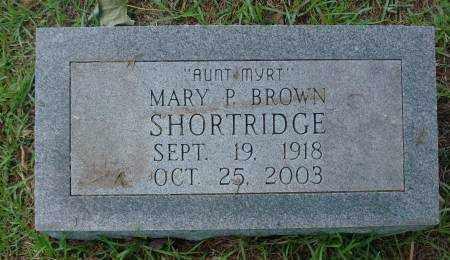 SHORTRIDGE, MARY P - Saline County, Arkansas   MARY P SHORTRIDGE - Arkansas Gravestone Photos