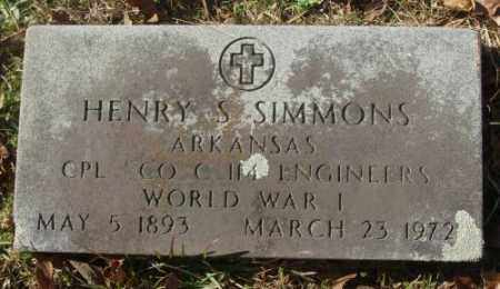 SIMMONS (VETERAN WWI), HENRY S - Saline County, Arkansas | HENRY S SIMMONS (VETERAN WWI) - Arkansas Gravestone Photos