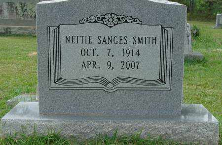 SANGES SMITH, NETTIE - Saline County, Arkansas | NETTIE SANGES SMITH - Arkansas Gravestone Photos