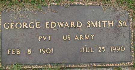SMITH, SR  (VETERAN), GEORGE EDWARD - Saline County, Arkansas | GEORGE EDWARD SMITH, SR  (VETERAN) - Arkansas Gravestone Photos