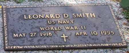 SMITH (VETERAN WWII), LEONARD D - Saline County, Arkansas | LEONARD D SMITH (VETERAN WWII) - Arkansas Gravestone Photos