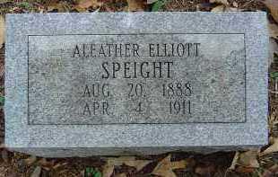 ELLIOTT SPEIGHT, ALEATHER - Saline County, Arkansas | ALEATHER ELLIOTT SPEIGHT - Arkansas Gravestone Photos