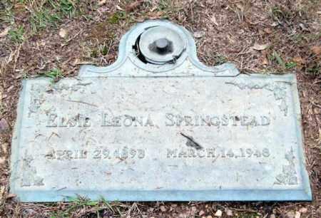 SPRINGSTEAD, ELSIE LEONA - Saline County, Arkansas   ELSIE LEONA SPRINGSTEAD - Arkansas Gravestone Photos