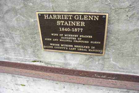STAINER, HARRIET (CLOSEUP) - Saline County, Arkansas | HARRIET (CLOSEUP) STAINER - Arkansas Gravestone Photos