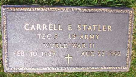 STATLER (VETERAN WWII), CARRELL E - Saline County, Arkansas | CARRELL E STATLER (VETERAN WWII) - Arkansas Gravestone Photos