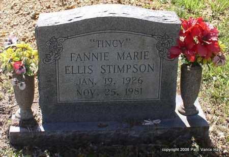 ELLIS STIMPSON, FANNIE MARIE - Saline County, Arkansas | FANNIE MARIE ELLIS STIMPSON - Arkansas Gravestone Photos