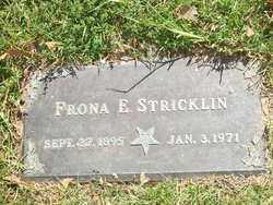 SKILLERN STRICKLIN, FRONA E. - Saline County, Arkansas   FRONA E. SKILLERN STRICKLIN - Arkansas Gravestone Photos
