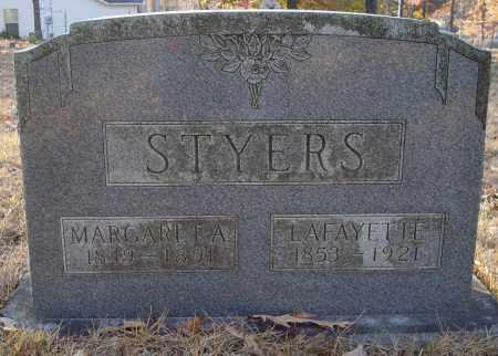 STYERS, MARGARET A - Saline County, Arkansas | MARGARET A STYERS - Arkansas Gravestone Photos