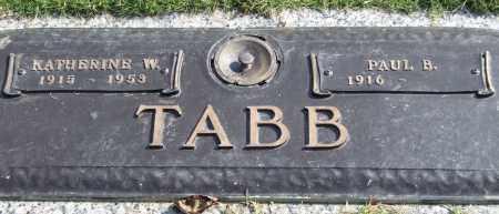 TABB, KATHERINE W. - Saline County, Arkansas | KATHERINE W. TABB - Arkansas Gravestone Photos
