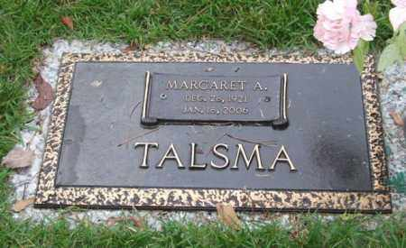 TALSMA, MARGARET A. - Saline County, Arkansas | MARGARET A. TALSMA - Arkansas Gravestone Photos