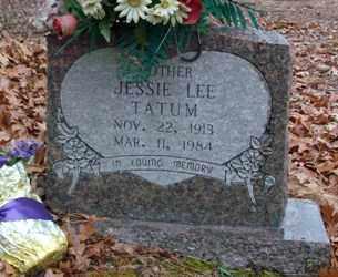 TATUM, JESSIE LEE - Saline County, Arkansas | JESSIE LEE TATUM - Arkansas Gravestone Photos