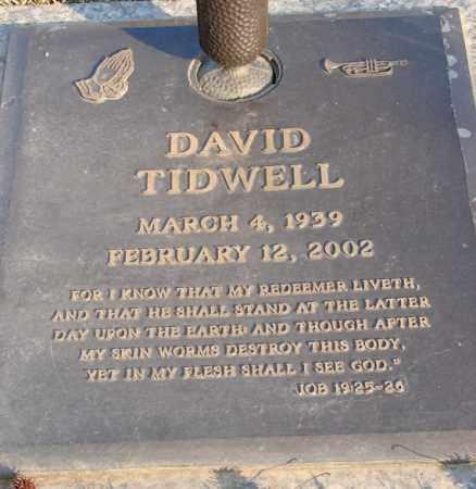 TIDWELL, DAVID - Saline County, Arkansas | DAVID TIDWELL - Arkansas Gravestone Photos