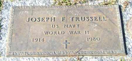 TRUSSELL (VETERAN WWII), JOSEPH F - Saline County, Arkansas | JOSEPH F TRUSSELL (VETERAN WWII) - Arkansas Gravestone Photos