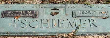 TSCHIEMER, METTIE M. - Saline County, Arkansas | METTIE M. TSCHIEMER - Arkansas Gravestone Photos