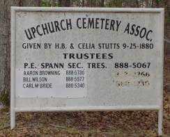 * UPCHURCH CEMETERY, SIGN - Saline County, Arkansas | SIGN * UPCHURCH CEMETERY - Arkansas Gravestone Photos