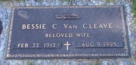 VAN CLEAVE, BESSIE C. - Saline County, Arkansas   BESSIE C. VAN CLEAVE - Arkansas Gravestone Photos