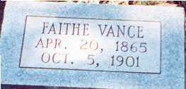 ROBERTS VANCE, FAITHE - Saline County, Arkansas | FAITHE ROBERTS VANCE - Arkansas Gravestone Photos
