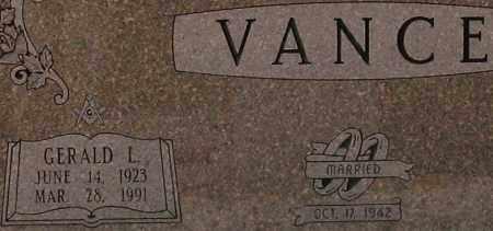 VANCE (VETERAN WWII), GERALD LAWRENCE - Saline County, Arkansas | GERALD LAWRENCE VANCE (VETERAN WWII) - Arkansas Gravestone Photos