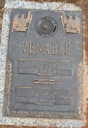 VENABLE, JOHN D. - Saline County, Arkansas | JOHN D. VENABLE - Arkansas Gravestone Photos