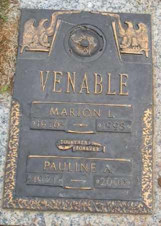 VENABLE, MARION L. - Saline County, Arkansas | MARION L. VENABLE - Arkansas Gravestone Photos