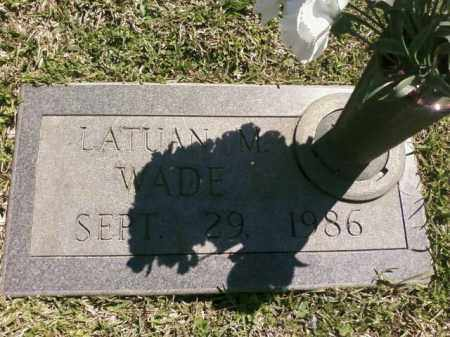 WADE, LATUAN M. - Saline County, Arkansas | LATUAN M. WADE - Arkansas Gravestone Photos