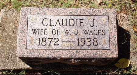 WAGES, CLAUDIE J - Saline County, Arkansas | CLAUDIE J WAGES - Arkansas Gravestone Photos