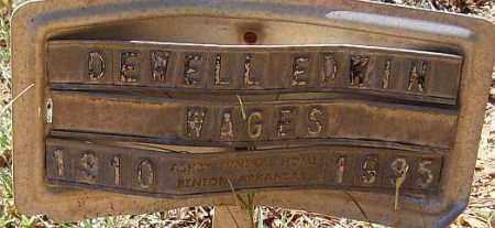 WAGES, DEWELL EDWIN - Saline County, Arkansas | DEWELL EDWIN WAGES - Arkansas Gravestone Photos
