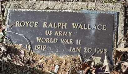 WALLACE (VETERAN WWII), ROYCE RALPH - Saline County, Arkansas | ROYCE RALPH WALLACE (VETERAN WWII) - Arkansas Gravestone Photos