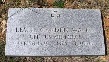 WALLIS (VETERAN), LESLIE CARDEN - Saline County, Arkansas   LESLIE CARDEN WALLIS (VETERAN) - Arkansas Gravestone Photos