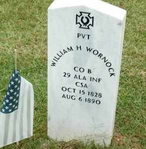 WARNOCK (VETERAN CSA), WILLIAM H - Saline County, Arkansas | WILLIAM H WARNOCK (VETERAN CSA) - Arkansas Gravestone Photos