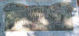 WARREN, MYRTLE L - Saline County, Arkansas   MYRTLE L WARREN - Arkansas Gravestone Photos