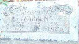 WARREN, RALPH A - Saline County, Arkansas | RALPH A WARREN - Arkansas Gravestone Photos