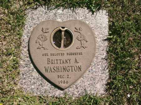 WASHINGTON, BRITTANY A. - Saline County, Arkansas | BRITTANY A. WASHINGTON - Arkansas Gravestone Photos