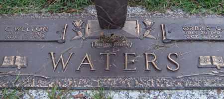 WATERS, C. WELTON - Saline County, Arkansas | C. WELTON WATERS - Arkansas Gravestone Photos