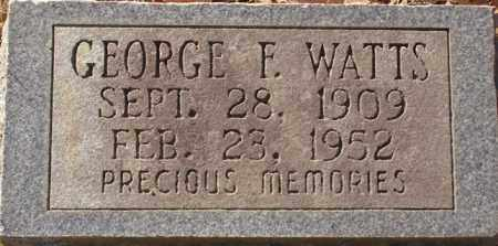 WATTS, GEORGE F - Saline County, Arkansas | GEORGE F WATTS - Arkansas Gravestone Photos