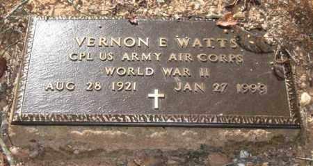 WATTS (VETERAN WWII), VERNON EUGENE - Saline County, Arkansas   VERNON EUGENE WATTS (VETERAN WWII) - Arkansas Gravestone Photos